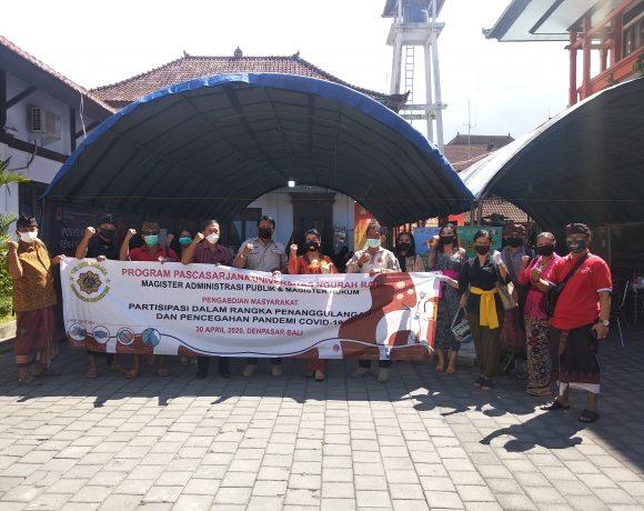 Program Pascasarjana Universitas Ngurah Rai (UNR) tetap melaksanakan Pengabdian Kepada Masyarakat ditengah Pandemi Covid-19 sebagai kewajiban yang tertuang dalam Tri Dharma Perguruan Tinggi.