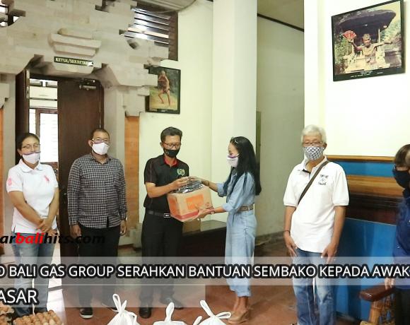 PT. Indo Bali Gas Group Serahkan Bantuan Sembako Kepada Awak Media
