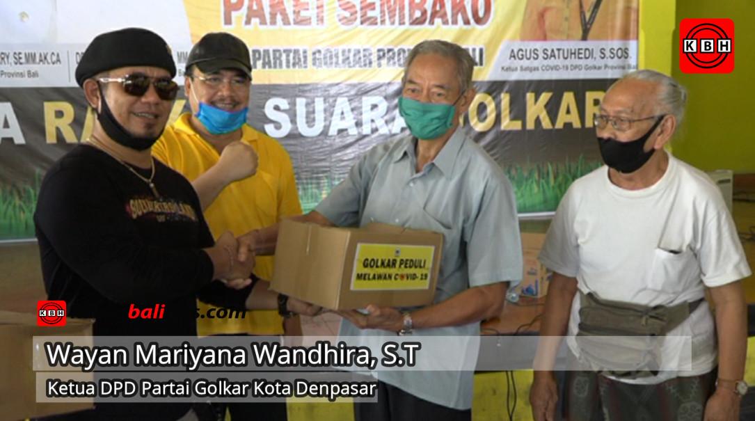 Partai Golkar Denpasar Serahkan 250 Paket sembako ke PERDODEN, Apresiasi Lestarikan Dokar di Kota Denpasar