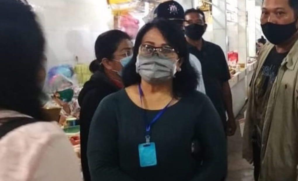 Cegah Transmisi Lokal, Tim GTPP Covid-19 Denpasar, Lakukan Pemantauan dan Pengawasan di Pasar Rakyat