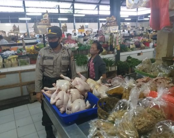 Kelurahan Panjer Gelar Pemantauan Protokol Kesehatan, di Pasar Rakyat