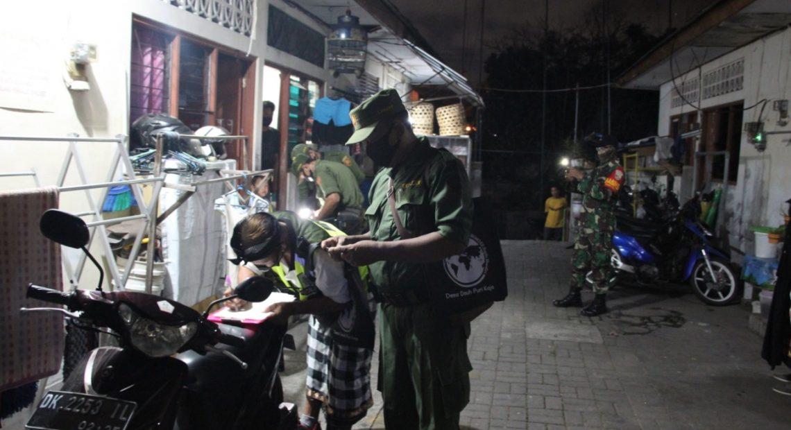 Desa Dauh Puri Kaja Lakukan Pendataan Penduduk Non Permanen dan Penegakan Protokol Kesehatan Covid-19 di Dusun Wanasari