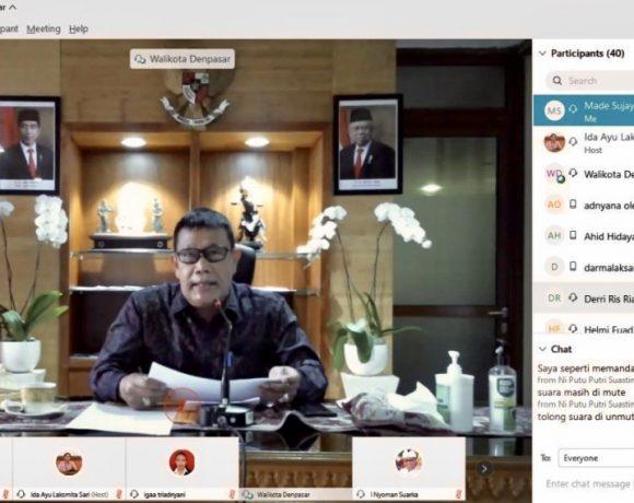 Sekda Rai Iswara Ikuti Pelantikan Pengurus HISKI Bali Periode 2020-2024, Secara Virtual
