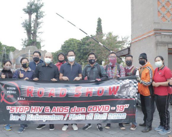 Wabup Suiasa Lepas Road Show Forum Peduli AIDS di Puspem Badung