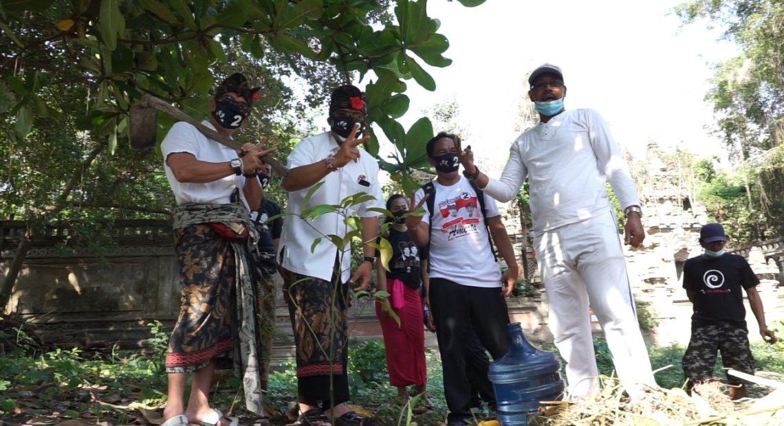 Paslon Amerta Blusukan ke Pasar dan Tanam Pohon Peringati Hari Pahlawan-kabarbalihits