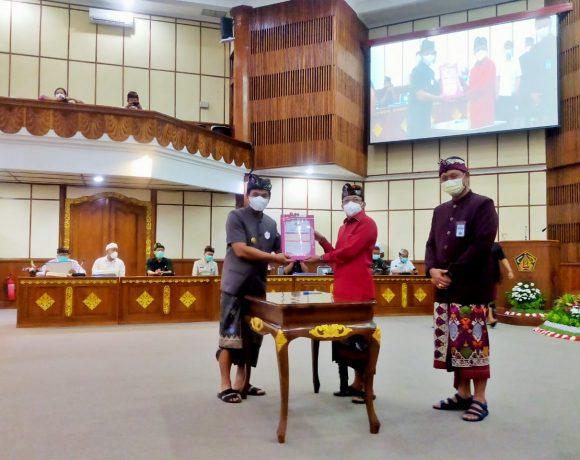 Pjs. Bupati Badung Menerima DIPA APBN TA 2021, Dana Transfer Sebesar Rp. 755 M