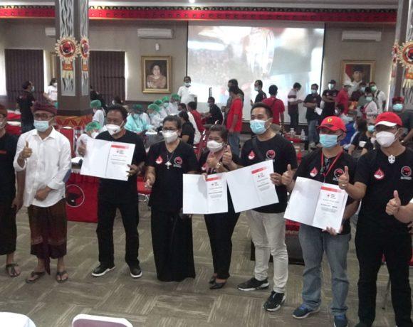 Donor Darah Sarinah PDI Perjuangan Bersama Relawan Jaya-Wibawa Lampaui Target