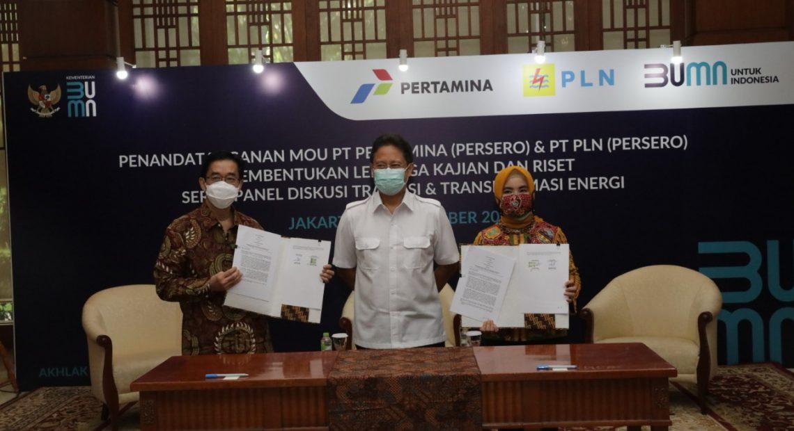 PLN dan Pertamina Inisiasi Pembentukan Indonesia Energy and Electricity Institute (IEEI)