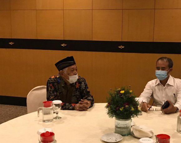 Pihak Polda Bali saat melakukan dialog dengan para tokoh muslim dan adat di Bali terkait bersama-sama ikut menjaga kamtibmas di Bali.