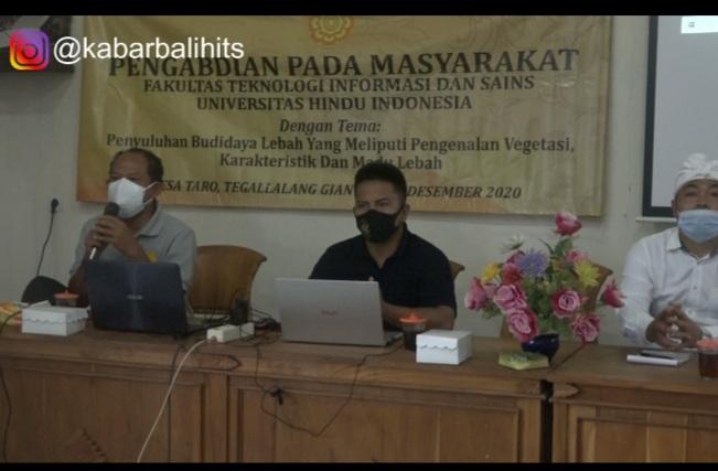 Pengabdian Pada Masyarakat, Unhi Bantu Petani Lebah Desa Taro Tingkatkan Produksi Madu-kabarbalihits