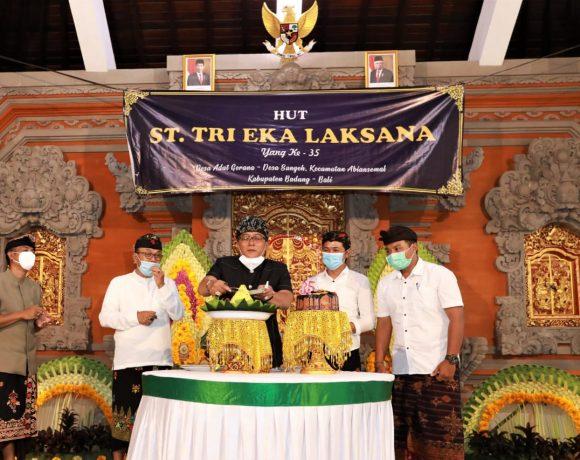 Bupati Giri Prasta Hadiri Hut ke-35 ST Tri Eka Laksana Abiansemal, Komitmen Tingkatkan Kualitas SDM Sekaa Teruna di Badung