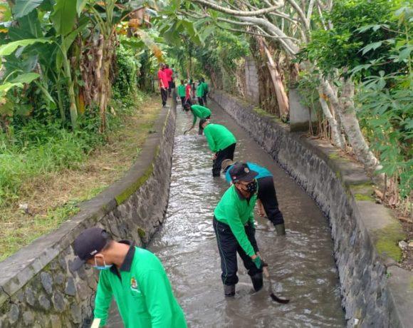 Ciptakan Sungai Yang Asri, Desa Peguyangan Kaja Rutin Laksanakan Program Kali Bersih