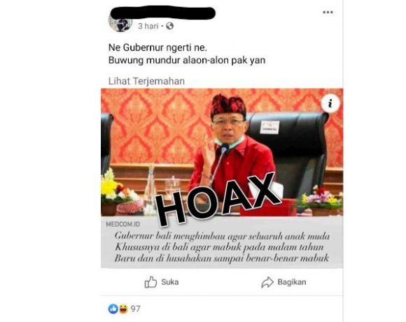 Diduga Hina Gubernur Koster dan Sebarkan Hoax, Dua Akun FB Dilaporkan Ke Polda Bali
