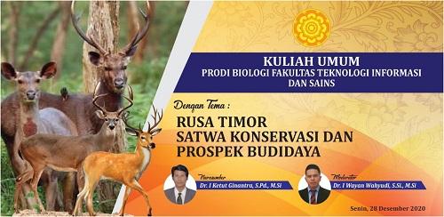 """""""Rusa Timor"""" Menjadi Topik Kuliah Umum Prodi Biologi FTIS UNHI-kabarbalihits"""
