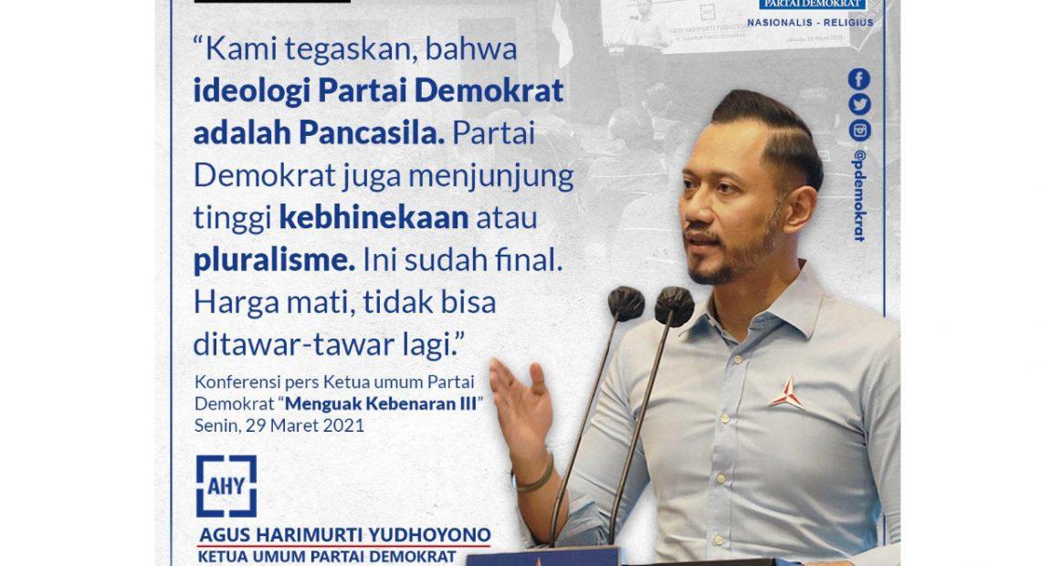 """""""Terkait Pertarungan Ideologi""""AHY Sebut Moeldoko Bohong dan Cenderung Menghasut, Tegaskan Kader Demokrat Akan Bersatu Melawannya"""