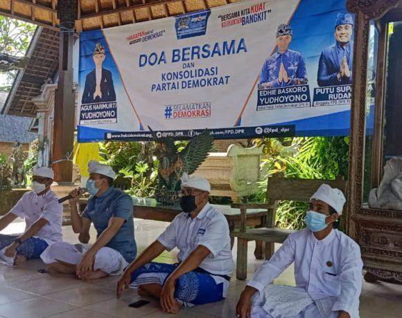 KLB Abal-Abal 'Kandas' di Menkumham, Kader Demokrat Bali Loyalis AHY Gelar Doa Bersama