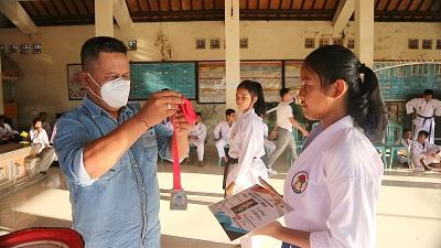 Berlimpah Prestasi, atlet Dojo Karate INKAI Tojan dalam Virtual SBY Cup XVII, Open Karate Championship 2021-kabarbalihits
