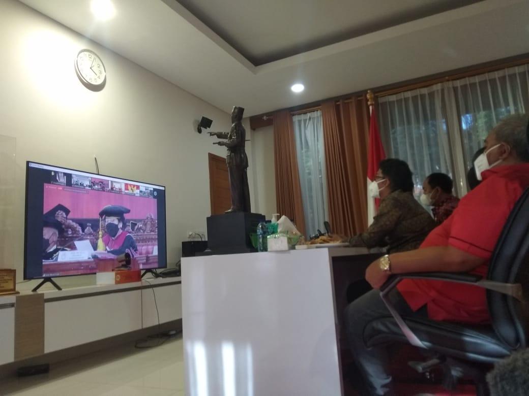 Bupati Giri Prasta Ikuti Pengukuhan Gelar Profesor Kehormatan Bagi Presiden ke 5 RI Megawati Soekarnoputri