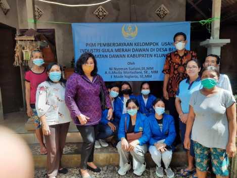 """Program Kemitraan Masyarakat (PKM) Unwar """" Pemberdayaan Kelompok Usaha Industri Gula Merah Dawan""""-kabarbalihits"""