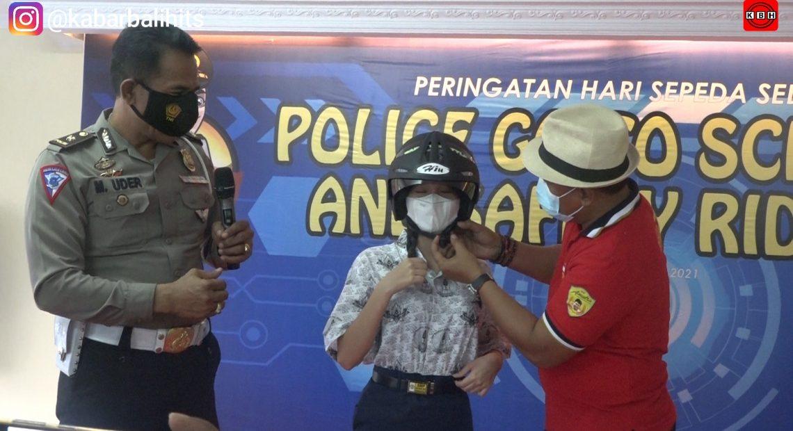 "Komit Keselamatan Siswa Berkendara Di Jalan Raya, Yayasan Pendidikan Ngurah Rai Gandeng Ditlantas Polda Bali Gelar Edukasi ""Safety Riding"""
