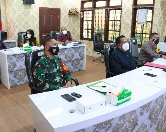 Bupati Tabanan Ikuti Rakor Evaluasi PPKM Se Jawa-Bali
