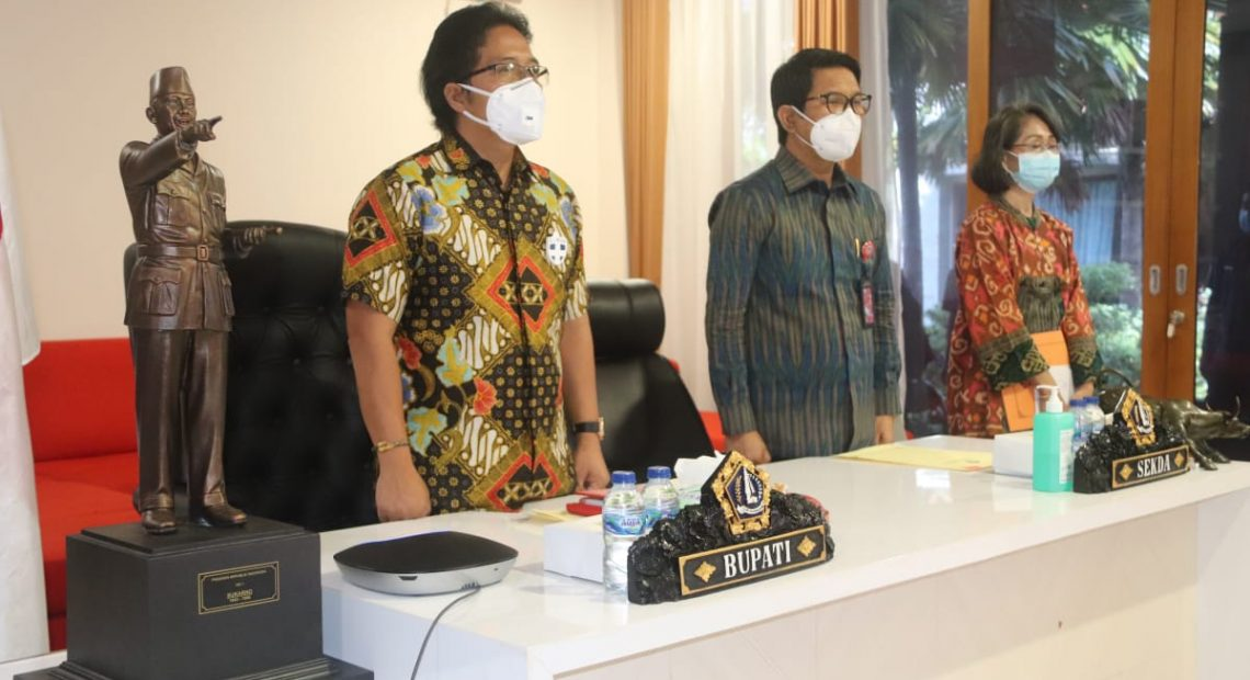 Upaya Pencegahan Korupsi, Bupati Badung Ikuti Launching MCP dan Rakorwasdanas