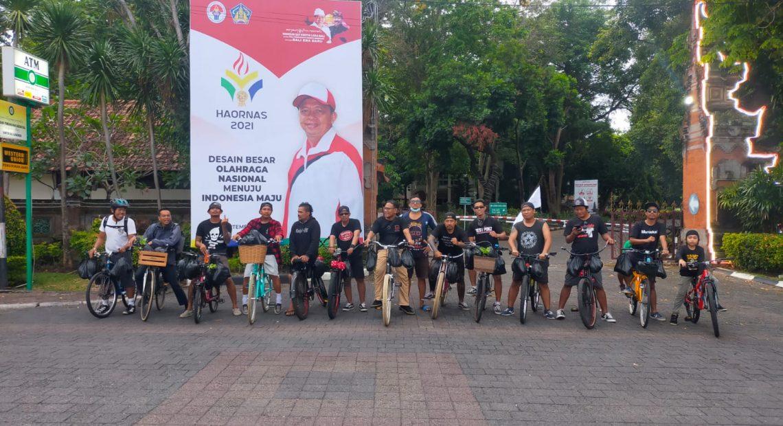 Ride For Justice Gelar Bersepeda dan Berbagi Pangan di Sekitar Kantor Gubernur Bali-kabarbalihits
